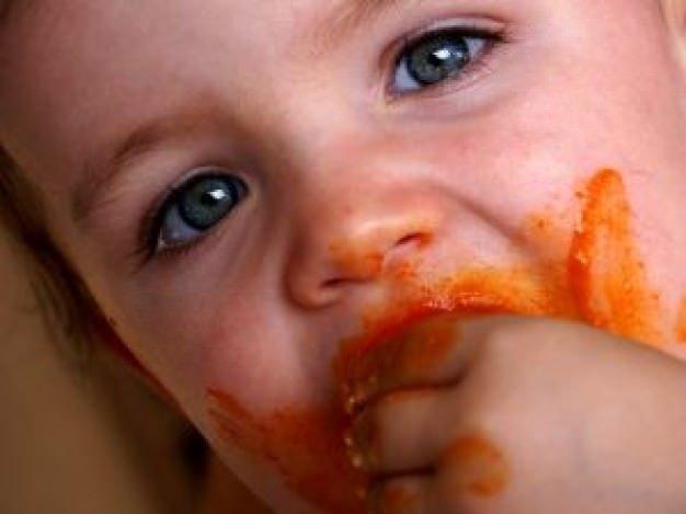 dziecko warzywa
